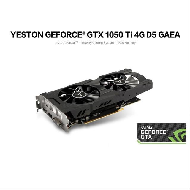 Yeston geforce gtx 1050ti 4g d5 gaea placa gráfica com 1291-1392mhz/7008mhz 4gb/128bit/gddr5 sistema de refrigeração por gravidade de memória 5