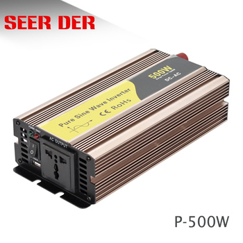 High frequency 500 watt inverter generator 12v dc 220v ac off grid pure sine wave 500w solar car power inverter