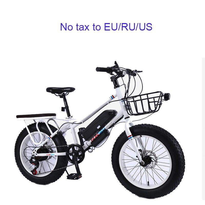 Gros pneu vélo électrique adulte vélo électrique en alliage d'aluminium e vélo nouveau e vélo en plein air ebike