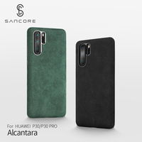 SanCore for HUAWEI P30/P30 Pro Phone Case Leather Full protection ALCANTARA Business Leather Luxury Phone Shell Suede Back Cover