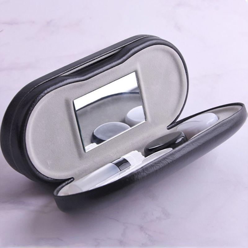 Креативный Чехол для очков двойного назначения ручная работа двухслойный ящик универсальные контактные линзы коробки для мужчин и женщин унисекс
