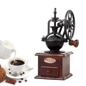Molinillo de Café Manual, Mini máquina de rueda de molino clásico Retro...
