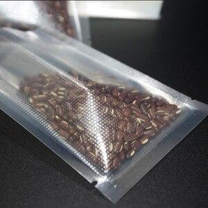 Torebka próżniowa na żywność 100 sztuk Lucency plastikowe tłoczenie torby kosmiczne świeże mięso Keeping saszetka przezroczysta torba próżniowa ryż pakowanie Polybag