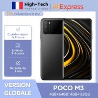 POCO-teléfono inteligente M3 versión Global, 4GB y 64GB, Snapdragon 662, pantalla de 6,53 pulgadas, Triple CÁMARA DE 48MP, desbloqueo facial IA, 6000mAh