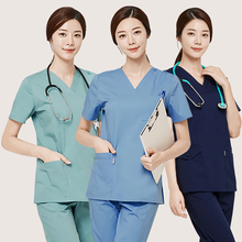 Plastic surgery hospital oral dental clinic hand-washing service operation nurse female doctor work clothes set