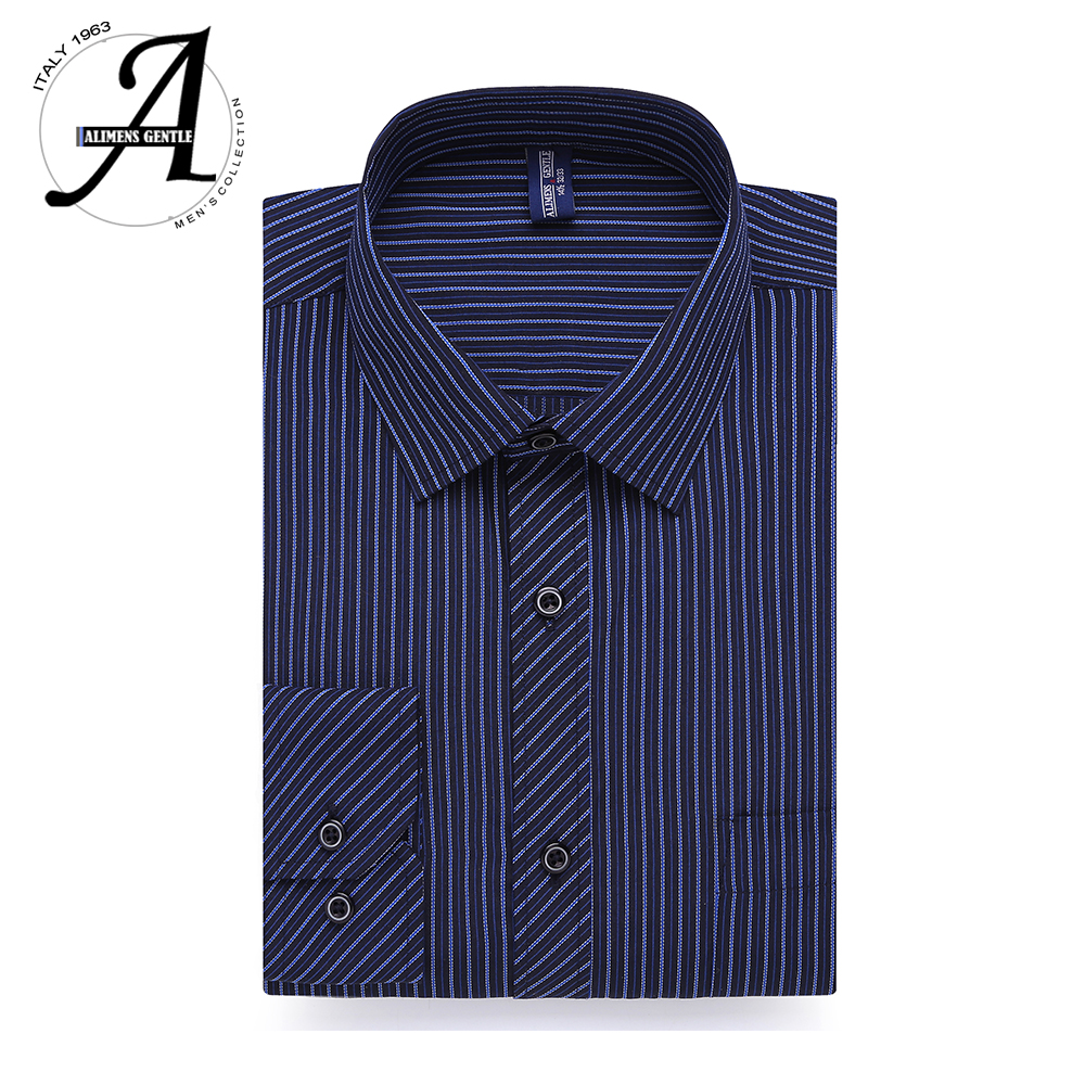 Men's Casual Shirts Long Sleeve Striped Dress Shirts Plus Size 8xl 7xl 6xl Cotton Fashion Style Business Men Shirts