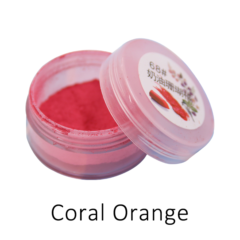 1g Coral Orange Lipstick Powder Lip Gloss Coloring Mica Pearl Powder For Cosmetics Makeup Lipstick Pigment Powder Acrylic Paint