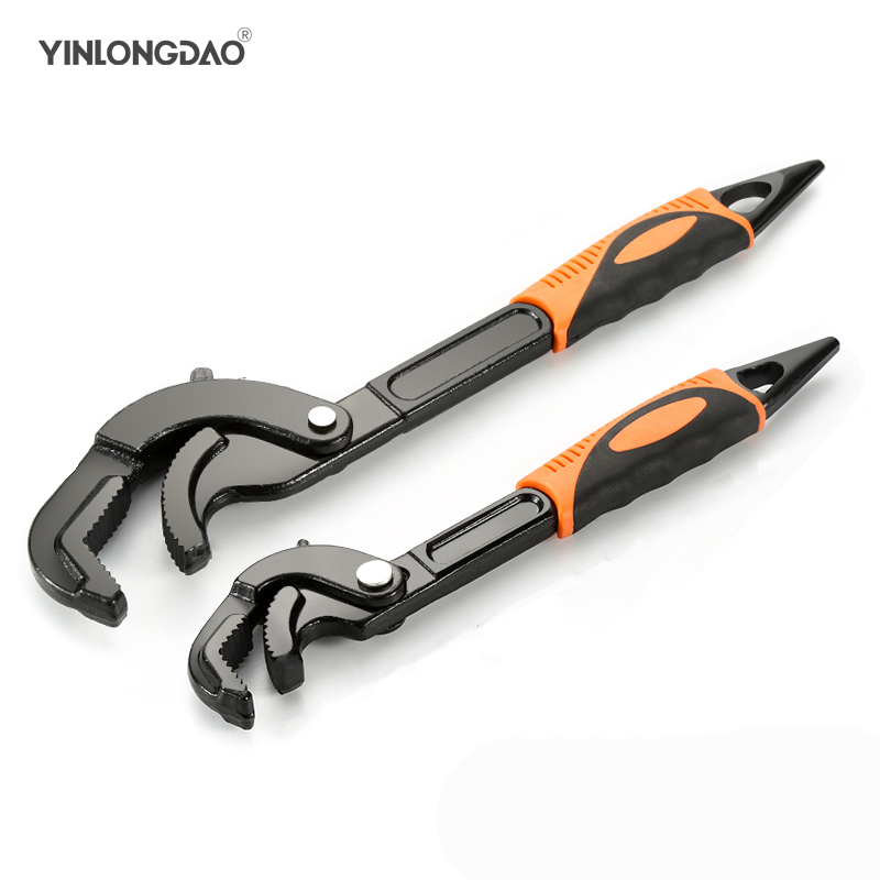 14-30 / 30-60mm Universal Key Pipe Wrench Open End Spanner Set High-carbon Steel Snap N Grip Tool Plumber Multi Hand Tool