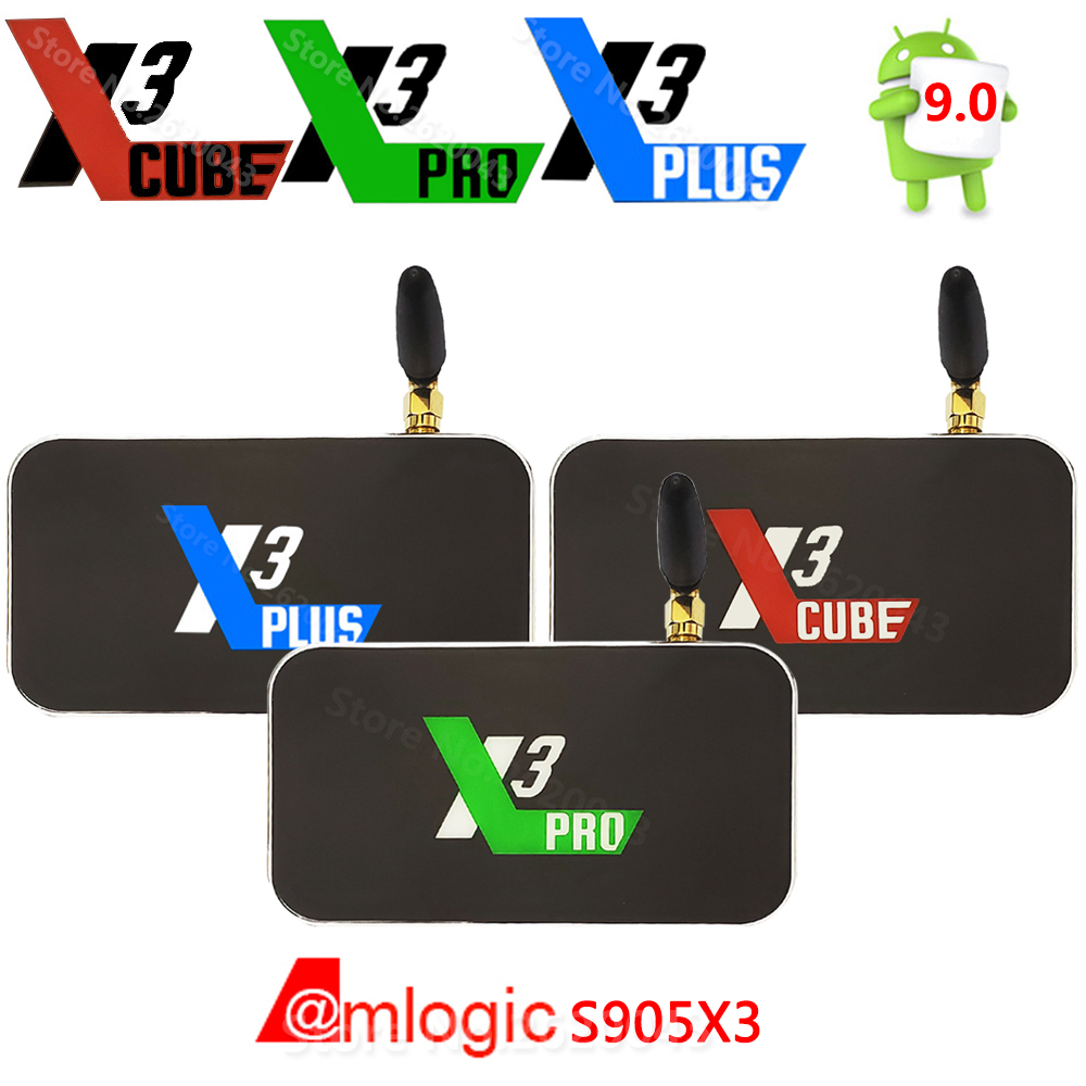 X3 CUBE X3 PLUS Smart Android 9.0 TV Box Amlogic S905X3 2GB 4GB DDR4 16GB 32GB ROM Bluetooth 4K HD X3 PRO Upgrade From X2 PRO