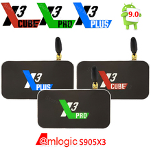 X3 CUBE X3 PLUS inteligentny Android 9.0 TV, pudełko Amlogic S905X3 2GB 4GB DDR4 16GB 32GB ROM Bluetooth 4K HD X3 PRO aktualizacja z X2 PRO