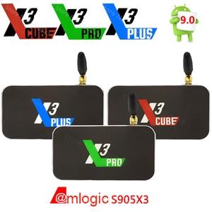 Image 1 - X3 Cube X3 Plus Smart Android 9.0 Tv Box Amlogic S905X3 2Gb 4Gb DDR4 16Gb 32Gb rom Bluetooth 4K Hd X3 Pro Upgrade Van X2 Pro