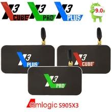 X3 cube x3 plus smart android 9.0 caixa de tv amlogic s905x3 2gb 4gb ddr4 16gb 32gb rom bluetooth 4k hd x3 pro atualização de x2 pro