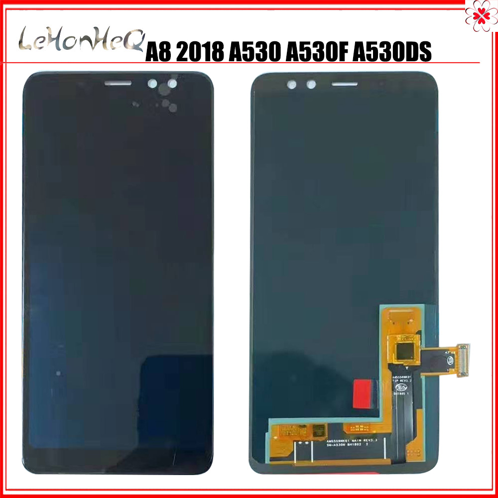 OLED LCD For <font><b>Samsung</b></font> Galaxy <font><b>A8</b></font> 2018 A530 LCD <font><b>Display</b></font> A530F A530DS A530N SM-A530N Touch <font><b>Screen</b></font> Digitizer Assembly image