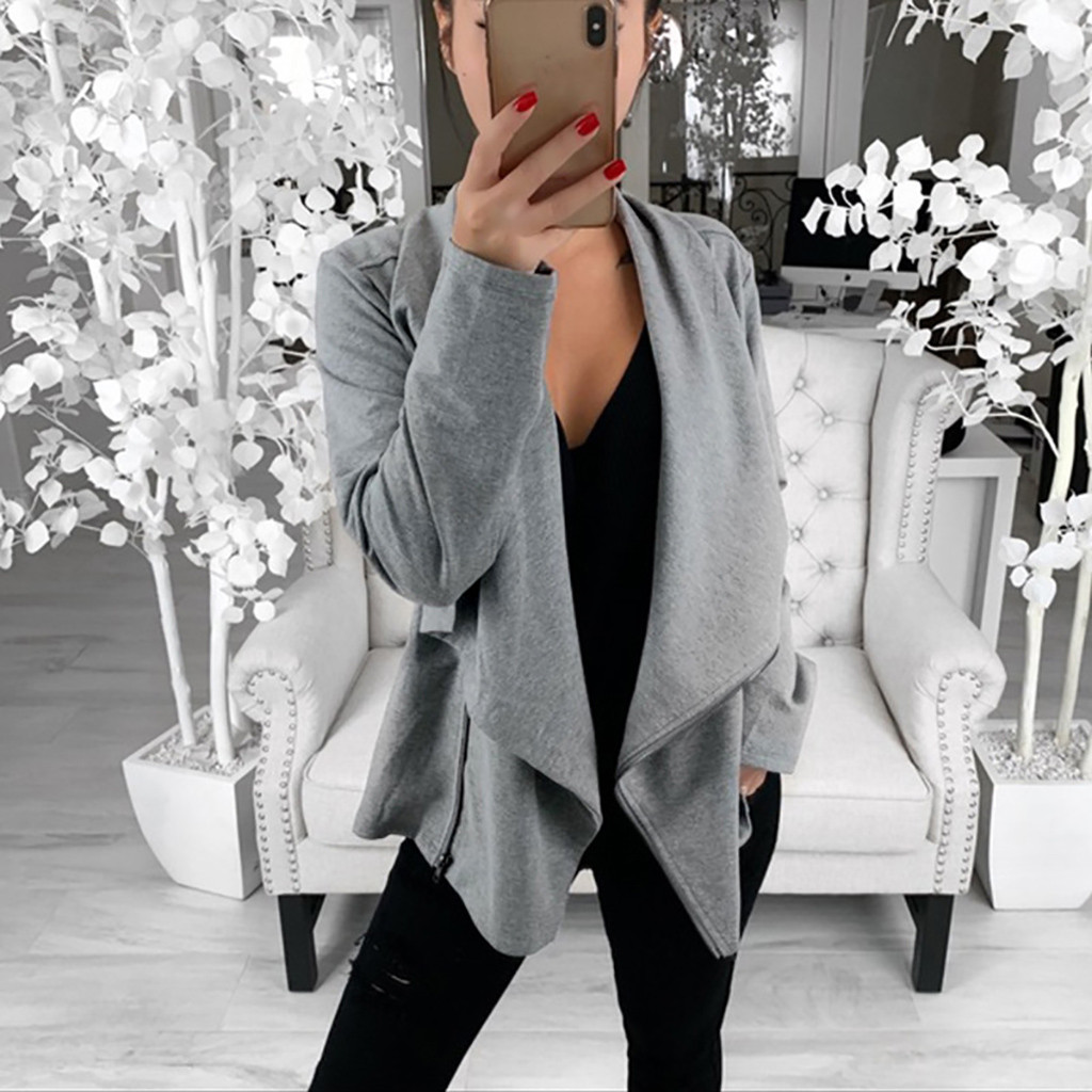 LPxdywlk Womens Autumn Solid Color Slim Blazer Ruffle Fashion Jacket Suit Open Front