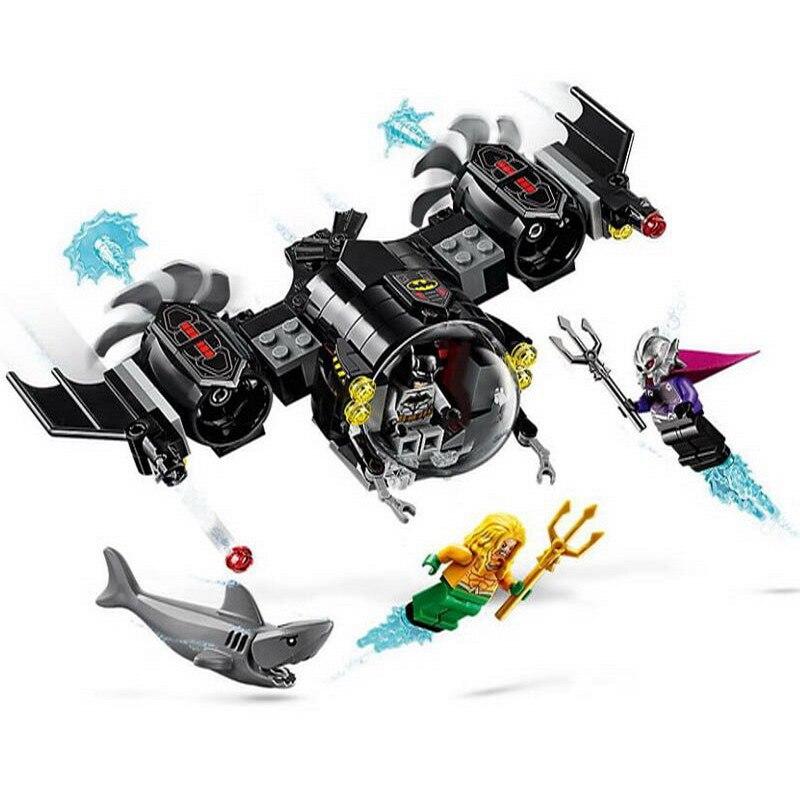 BELA 11233 Super Heros Batman Batsub Underwater Clash Building Blocks Brick Compatible Legoinglys Technic Playmobil Toys