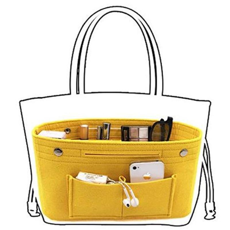 Obag Felt Cloth Inner Bag Women Fashion Handbag Multi-pockets Storage Cosmetic Organizer Bags Luggage Bags Accessories