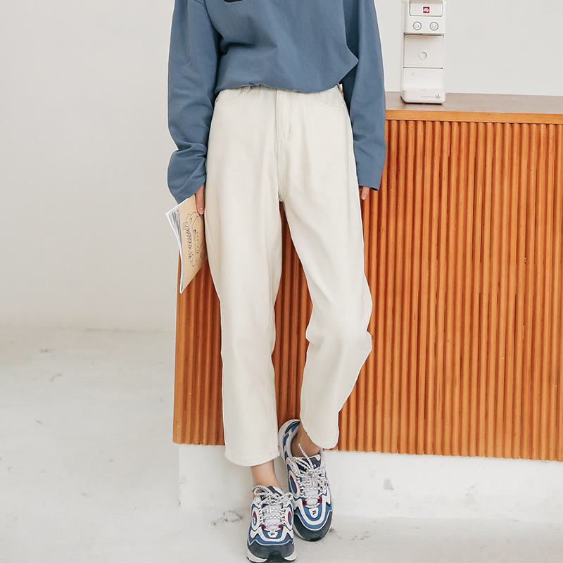 2020 New Women Jeans For Women Fashion Loose BoyfriendSpring Autumn High Waist Casual Cotton Jean Female Denim Harem Pants WJ131