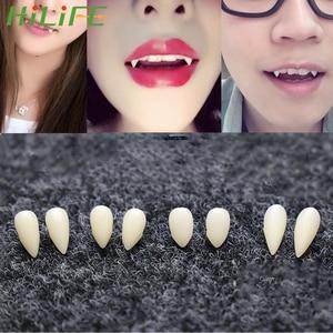 HILIFE DIY 1 пара 4 размера, экологически чистые зубы вампира, клыки, реквизит для Хэллоуина, вечерние реквизиты для костюма