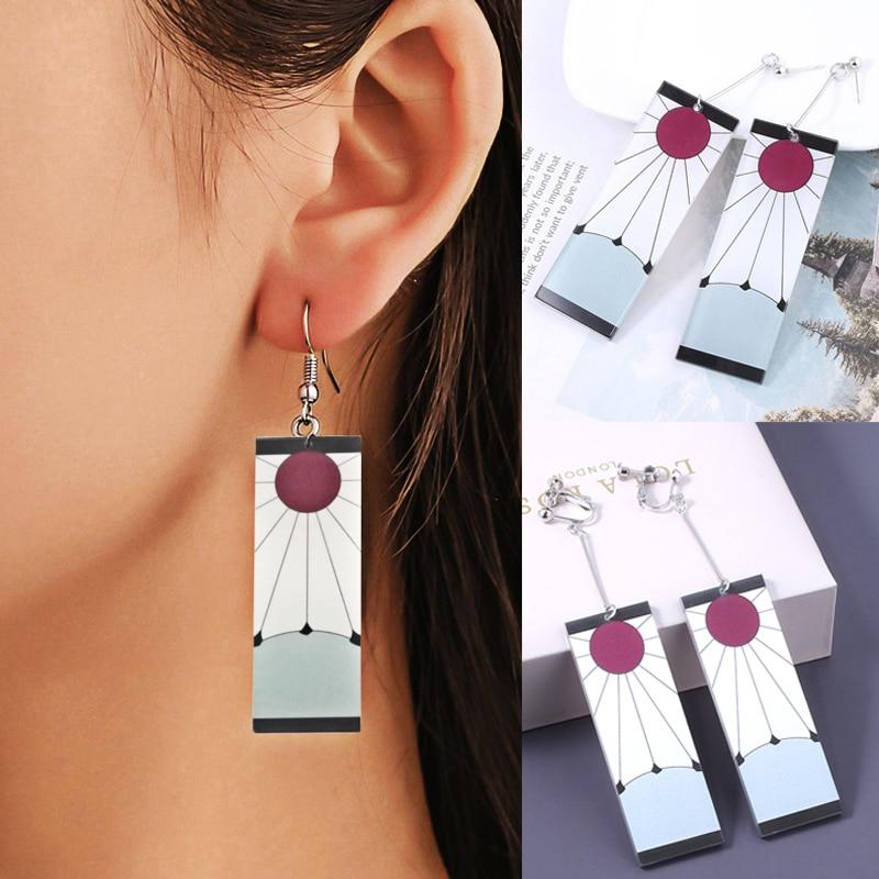 Original Tanjiro Earrings Kimetsu No Yaiba Earrings Pair 2