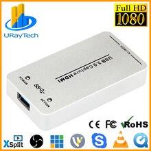 1080P 60fps UVC Бесплатный драйвер HDMI Карта видеозахвата/ЗАХВАТ USB Поддержка USB3.0/USB2.0 захват HDMI для Linux, Windows, OS X
