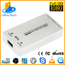 1080P 60fps ไดร์เวอร์ UVC ฟรี HDMI Video Capture Card/Grabber USB สนับสนุน USB3.0/USB2.0 Capture HDMI สำหรับ linux, windows,OS X