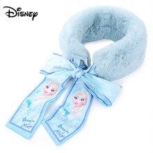 Disney носочки с изображением снежной принцессы тесемка, шарф осень-зима с плюшевой подкладкой для девочек, теплый комбинезон с отстегивающейся передней частью детская одежда с рисунком из мультфильма милый шейный платок
