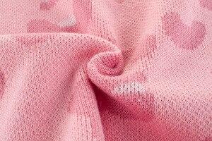 Image 5 - Wiosenny i jesienny nowy nabytek Baby Girl Clothes dziecięcy sweter dziecięcy swetry dziewczęcy różowy z długim rękawem O neck dziecięcy sweter z dzianiny