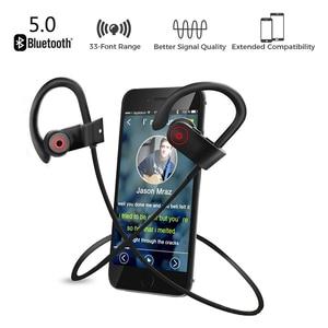 Image 3 - Sport Bluetooth Headphone Stereo Ear hook Wireless Earphones Waterproof Bluetooth 5.0 Headset With Microphone For iPhone Huawei