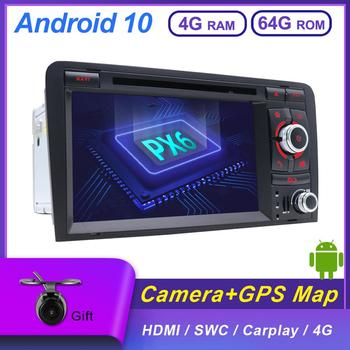 Autoradio 64G ROM+4G RAM For Audi A3 8P 2003-2011 Car Multimedia DVD 2 Din Android 10.0 GPS Navi Rear View Camera OBD DAB 4G image