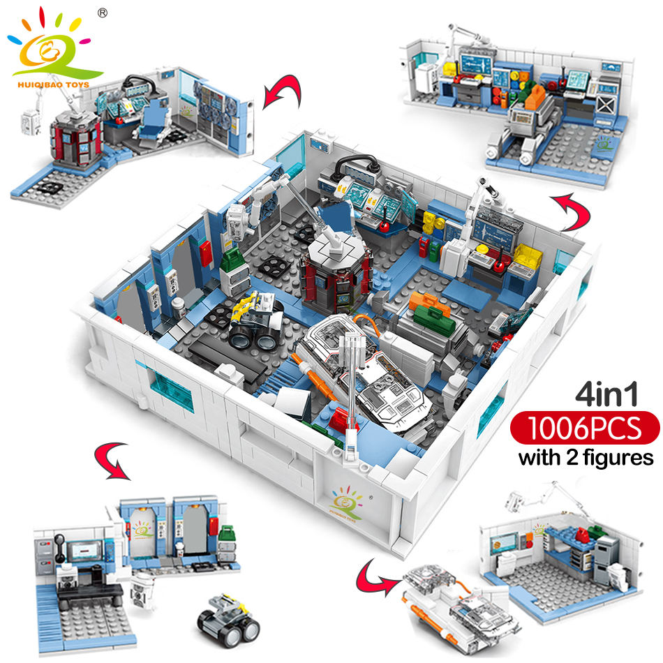 1006pcs Wandering Earth Space Station Building Blocks Legoing City Creator Astronaut Scientific Bricks Set Toy For Children