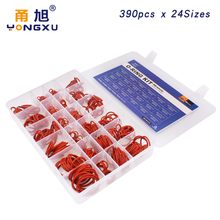 390pcs Red Silicon/Silicone O Ring Rubber Ring 24 Sizes Rubber Oring Gasket O-rings Seal Assortment Set Box Kit red Ring red plaid tartan o ring wristband