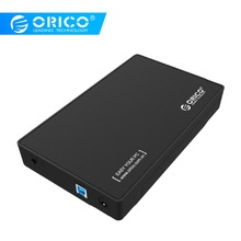 "ORICO 3,5 дюймовый корпус для жесткого диска USB3.0 на SATA жесткий диск Внешний чехол для жесткого диска без инструментов 8 ТБ для 3,"" SATA HDD и SSD dapter"