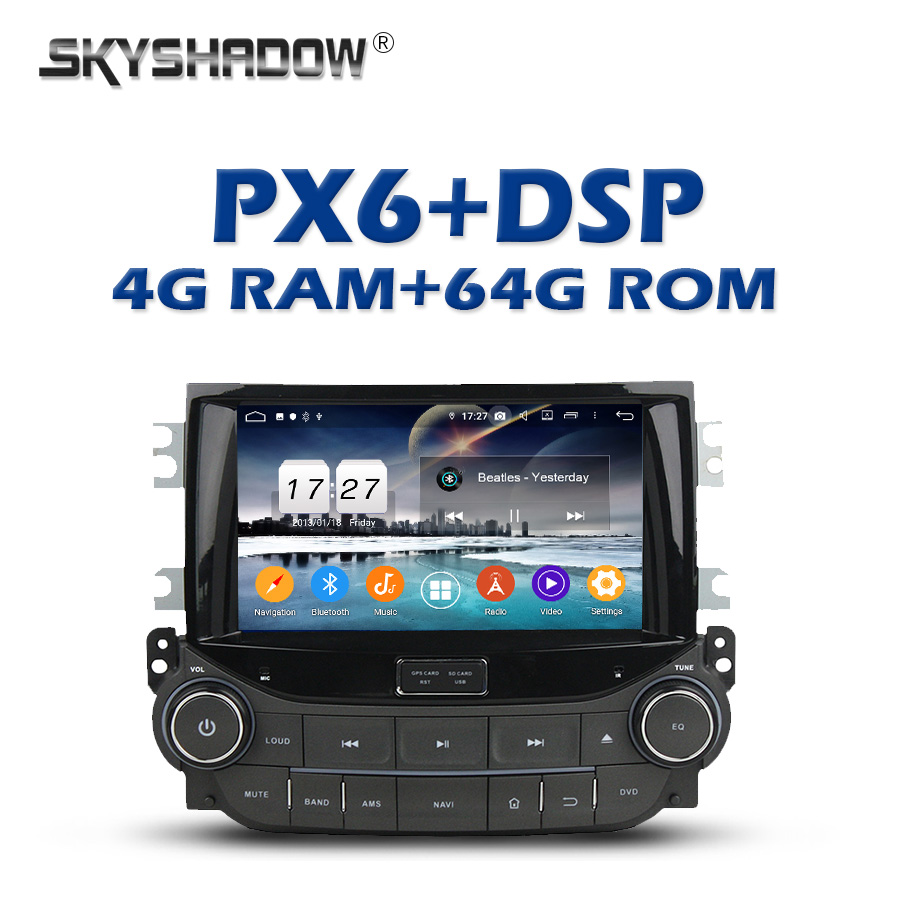 PX6 DSP Android 9.0 4GB + 64GB Car DVD Player Wifi IPS Bluetooth 5.0 RDS Auto RADIO GPS map For Chevrolet Malibu 2013 2014 2015