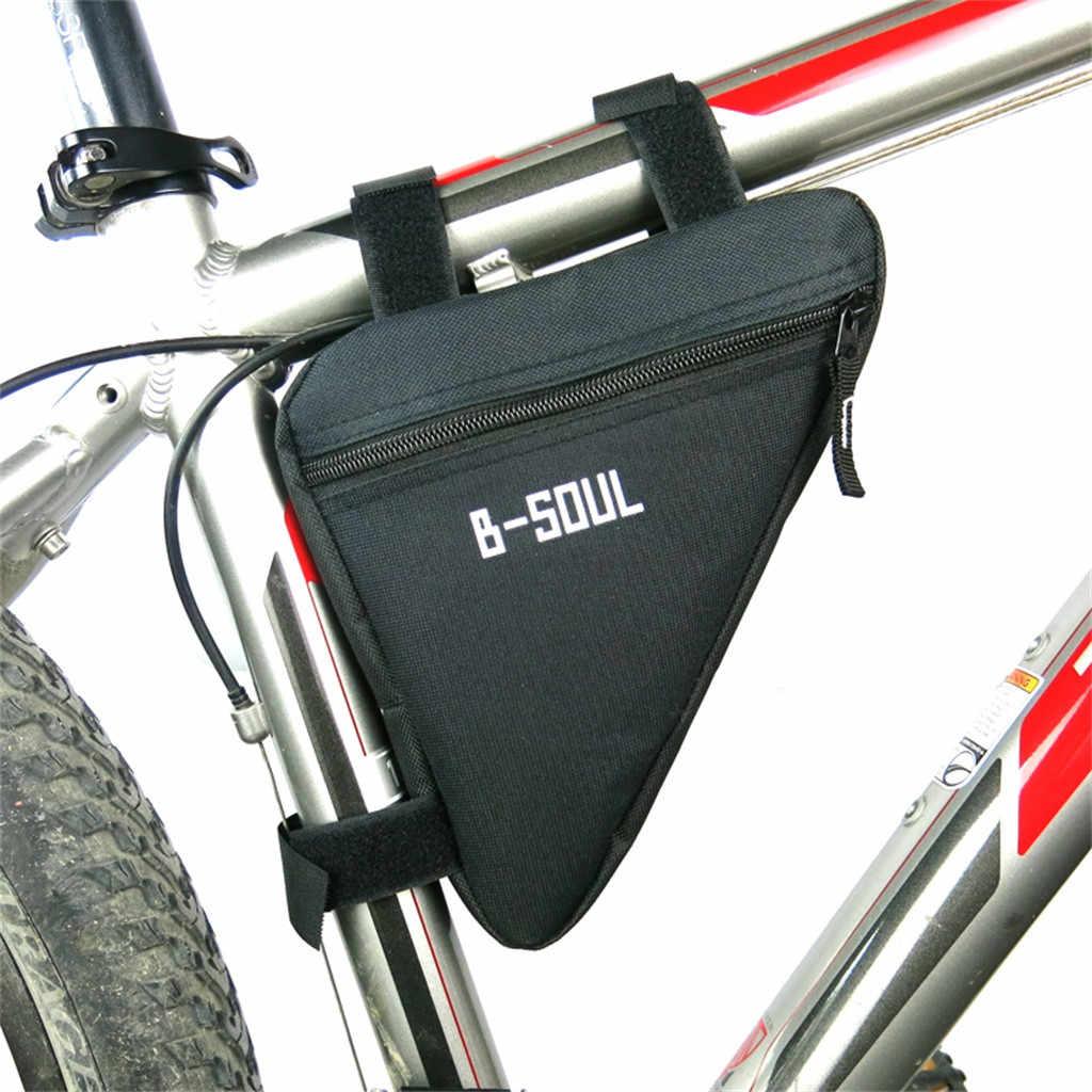 HOMPER Impermeable Bolso de Bicicleta Triangle//Bolsa Frontal de Tubo para Bicicleta//Alforjas Delantera Triangulo//Bolsa del Tubo Frontal Titular Tri/ángulo Ciclismo Bicicleta,1,2L