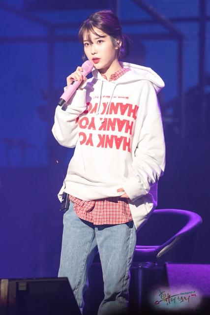 IU Hoodies Sweatshirt KPOP IU Cap Hoodie Lee Ji Eun Pullover and 50 similar items Thanks Hoodie from K-STAR Unisex Cap Hoodie 5