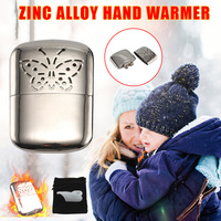 Metal Hand Warmer Petrol Reusable Pocket Portable for Ski Winter Camping Outdoor DIN889|Stove Hand Warmers|   -