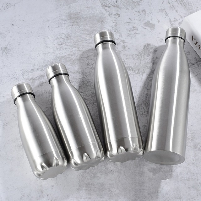1000ml Sports Stainless Steel Water Bottle Single Wall Hot Cold Water Cola Bottle Insulated Vacuum Flask for Kids School 3