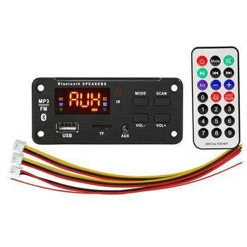 5V 12V Mp3 Wireless 5 0 Dashboard samochodowy sprzęt Audio moduł Usb Fm Tf Radio Aux nagrywanie wsparcie wejście samochodowy sprzęt Audio dekoder Audio tanie i dobre opinie Weigav CN (pochodzenie) 0 05kg 92 * 41 * 21MM Black
