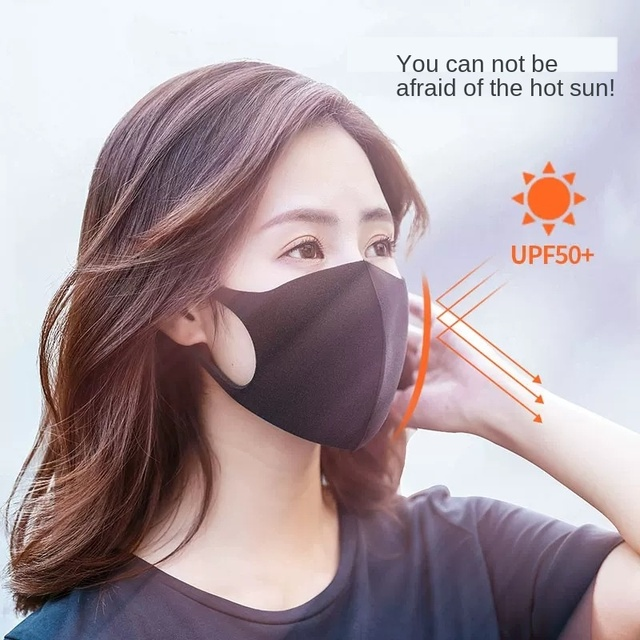 3 Layers Anti-Dust Mask Washable Mouth Mask Kids Adult Face Mask Outdoor Mouth Mask Facial Respirator flu-proof Black Mask 5