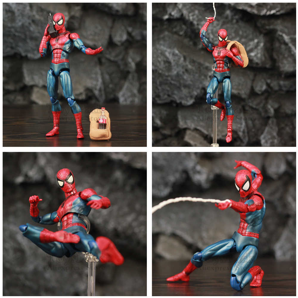 "Marvel The Amazing Spider-Man 6 ""Action Figure Comic Ver. Peter Benjamin Parker Spider Man Legends Spiderman Giocattoli figma"