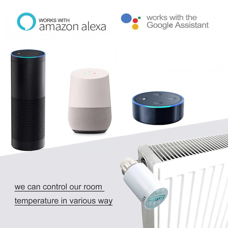 KKMOON מקצועי טמפרטורת בקר רגולטור ערכות APP לתכנות טרמוסטט TRV Thermoregulator שסתום