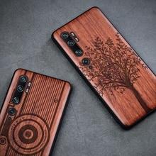 עבור Xiaomi Mi 10 אולטרה לייט לערבב 3 Mi 9T SE CC9 CC9E הערה 8 פרו Redmi K30 K20 מוצק עץ גילוף כיסוי הכל כלול עץ Funda
