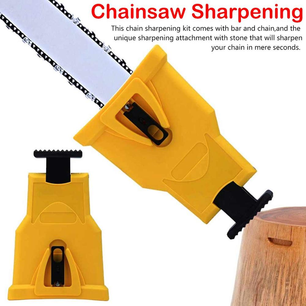 Chainsaw Sharpener Saw Teeth Sharpener Bar-Mounted Fast Grinding Electric Power Chainsaw Chain Sharpener Woodworking Tools