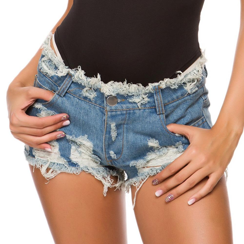Women Shorts jean Female Casual Slim Denim Shorts Large Size Cotton Mid Waist Fashion Button Pocket Tassel Sexy Denim Shorts