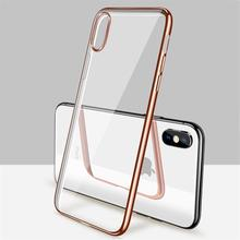 Soft Case For iPhone 11 Pro XS Max XR X Case Silicone Transparent Plated Fundas For iPhone 11 7 8 6S Plus 5 5S Back Cover Coque laser person pattern protective abs back case for iphone 5 5s transparent silver