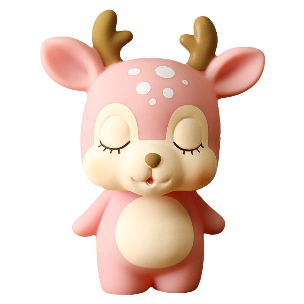 1pc Deer Piggy Bank Cartoon Cute Creative Coin Bank Money Box Piggy Bank Adorable Gift Saving Pot