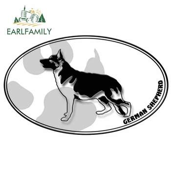 EARLFAMILY 13cm x 7.9cm for German Shepard logo Funny Car Stickers Bumper Trunk Occlusion Scratch Decals Vinyl Car Wrap image