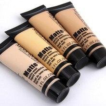 Base professionnelle mat liquide fond de teint maquillage étanche visage correcteur fond de teint cosmétiques réparation visage maquillage