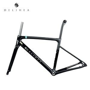 DELIHEA 2019 REST BOB Rim/Disk Brake New Super Light Carbon Road Frame Disc Frame BSA/BB30 Bike Frame XDB/DPD|Bicycle Frame| |  -