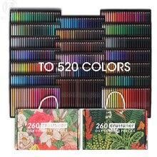 Andstal 520/260 Colors Professional Oil Color Pencils Drawing Pencils Set Coloring Coloured Colored Pencil School Art Supplies